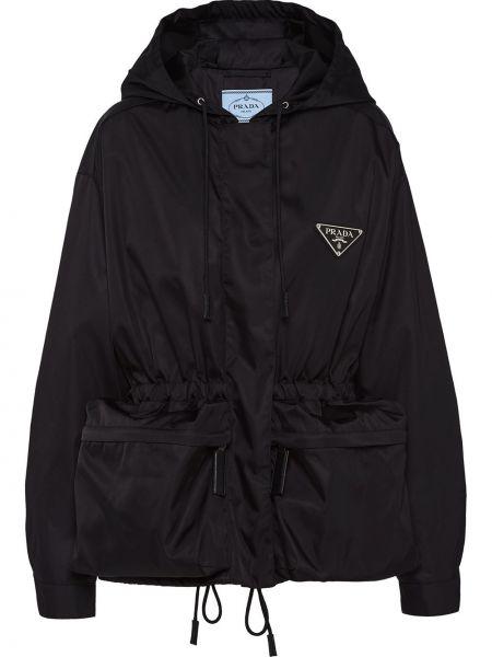 Куртка с капюшоном оверсайз с карманами Prada