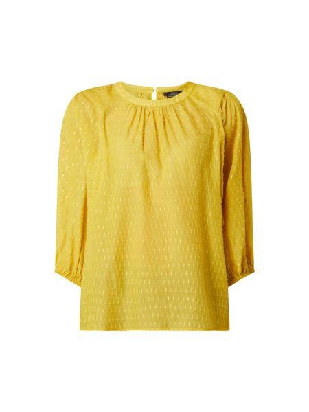 Bluzka z jedwabiu - żółta Set