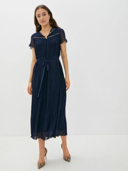 Вечернее синее вечернее платье Vera Moni