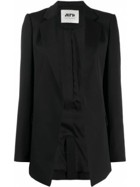 Шерстяная черная куртка узкого кроя с подкладкой Maison Rabih Kayrouz