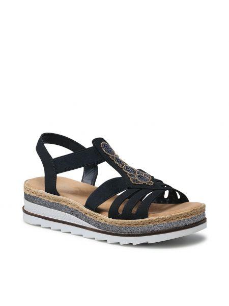 Sandały espadryle - niebieskie Rieker