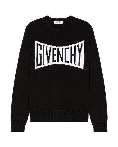 Czarny pulower bawełniany Givenchy