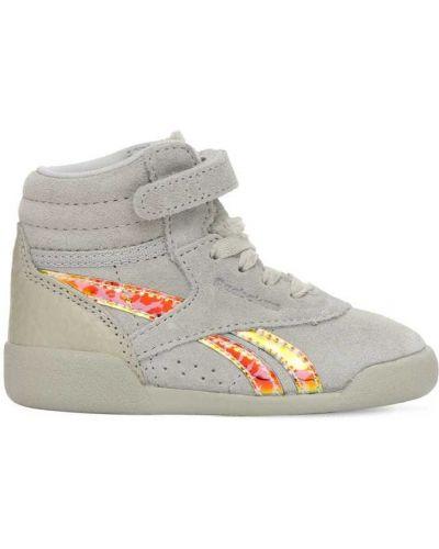 Koronkowa zamsz sneakersy na sznurowadłach Reebok Classics