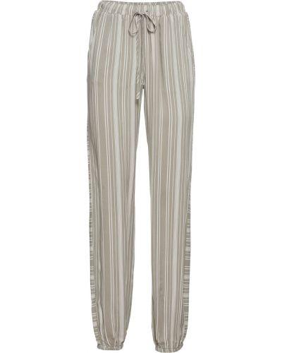 Свободные брюки в полоску оливковый Bonprix