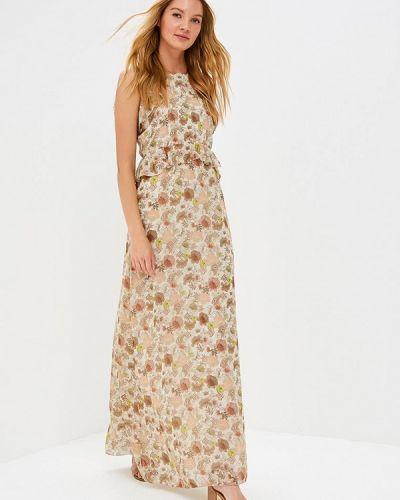 Платье бежевое итальянский Motivi