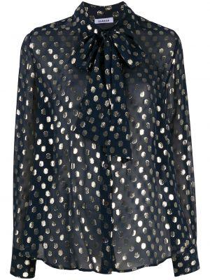 Шелковая с рукавами блузка с бантом P.a.r.o.s.h.