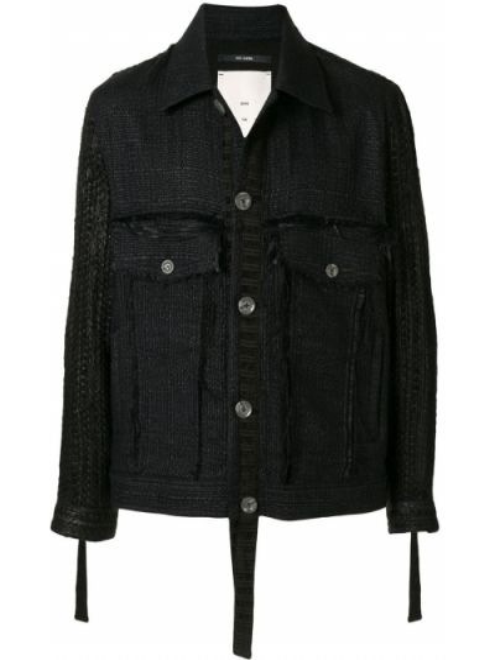 Klasyczna czarna długa kurtka z długimi rękawami Song For The Mute