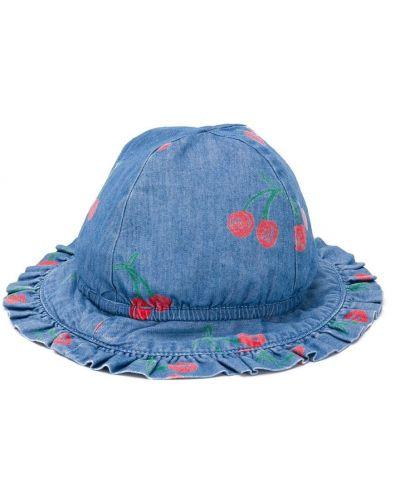 Хлопковые синие шляпа с декоративной отделкой Stella Mccartney Kids
