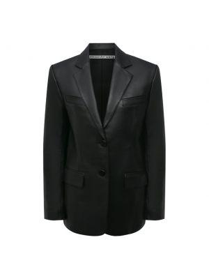 Кожаный пиджак - черный Alexander Wang