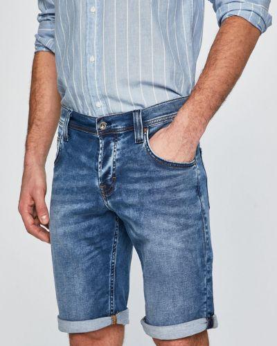 Джинсовые шорты с карманами синий Mustang