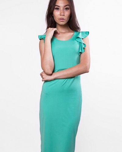 Зеленое платье весеннее Sfn