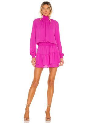 Фиолетовое коктейльное платье с декольте с подкладкой Krisa