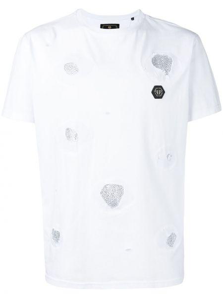 Koszula krótkie z krótkim rękawem prosto polskie Philipp Plein