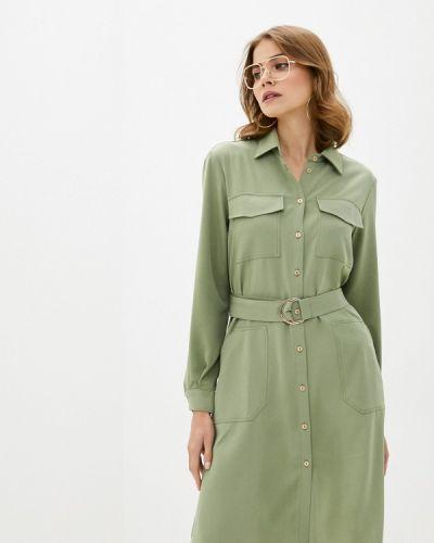 Зеленое платье-рубашка Imocean