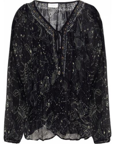 Bluzka koronkowa - czarna Camilla