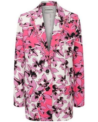 Розовый пиджак с подкладкой Iceberg