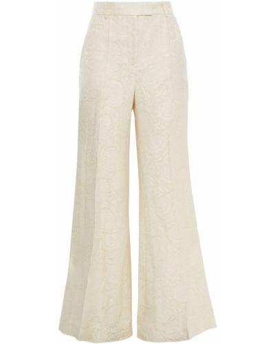 Бежевые льняные брюки с карманами Joseph