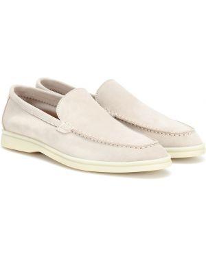 Замшевые туфли летние Loro Piana