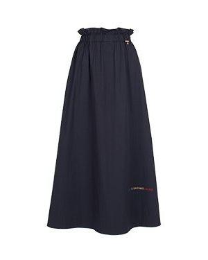 Хлопковая юбка миди - синяя Elisa Fanti