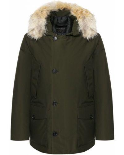 Утепленная куртка с капюшоном на молнии Woolrich