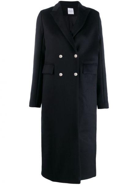 Прямое длинное пальто с капюшоном на пуговицах Roseanna