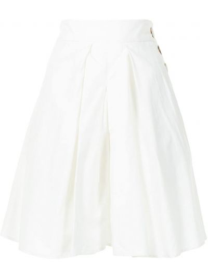 С завышенной талией хлопковые белые шорты Eudon Choi