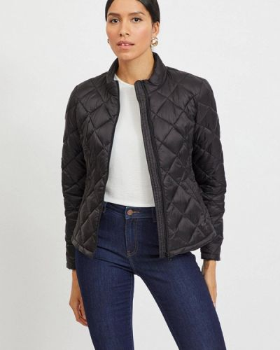 Утепленная черная куртка Vila