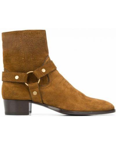Ankle boots - brązowe Saint Laurent