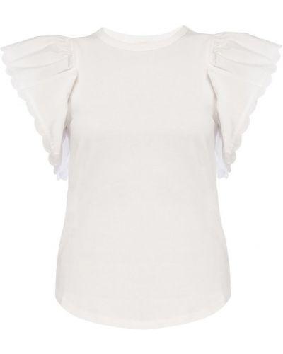 Biały t-shirt bawełniany krótki rękaw See By Chloe