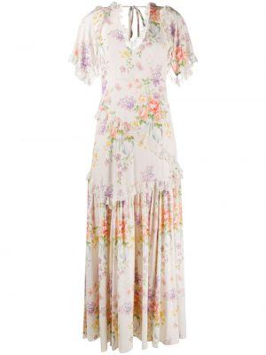 Белое платье мини со вставками с V-образным вырезом с короткими рукавами Needle & Thread