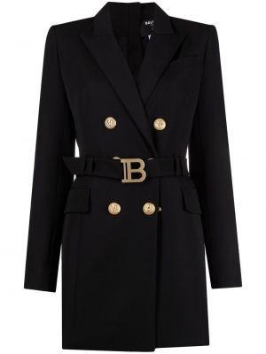 Хлопковое платье - черное Balmain