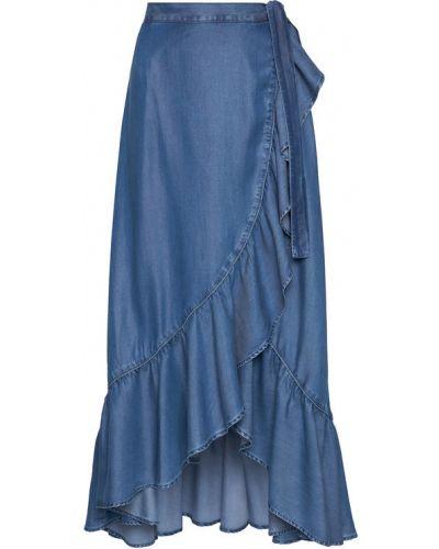 Niebieska spódnica maxi Guess