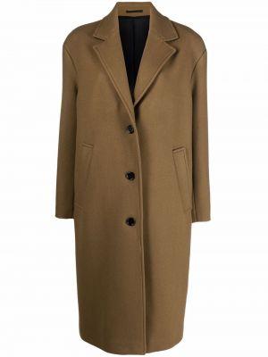 Długi płaszcz wełniany - zielony Filippa K