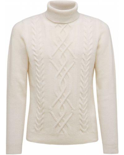 Beżowy z kaszmiru sweter Piacenza Cashmere