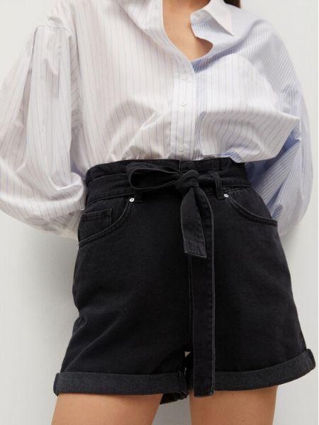 Szorty jeansowe - czarne Mango