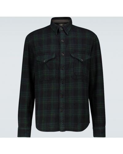 Ватная хлопковая черная рубашка Rrl