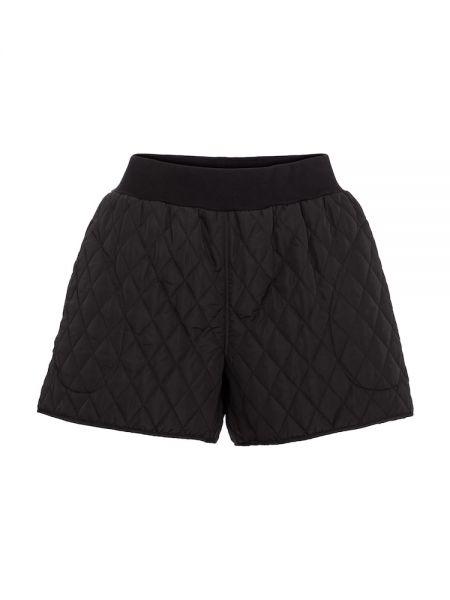 Стеганые хлопковые черные шорты Norma Kamali