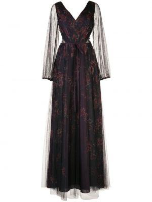 Платье макси длинное - фиолетовое Marchesa Notte