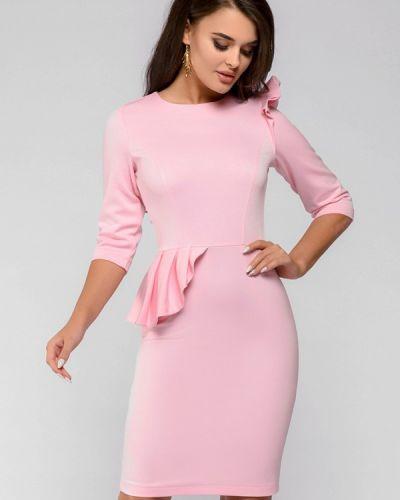 Повседневное платье розовое весеннее 1001dress