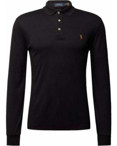 Czarna koszulka bawełniana Polo Ralph Lauren