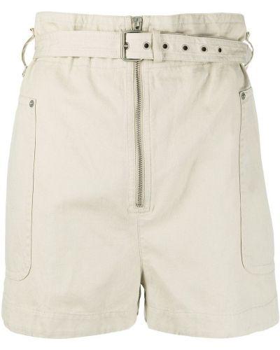 Хлопковые шорты с поясом на молнии Isabel Marant étoile