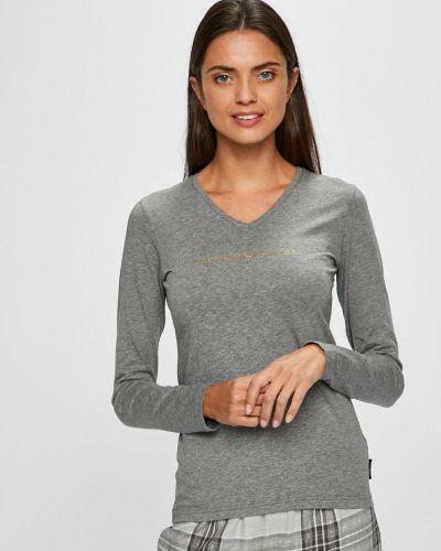 Блузка с V-образным вырезом трикотажная Emporio Armani