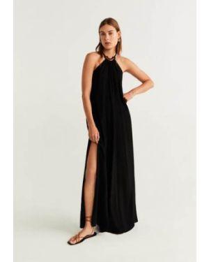 Платье с американской проймой из вискозы Mango