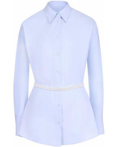 Блузка с длинным рукавом с поясом с бусинками Mm6