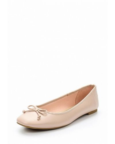 Розовые кожаные балетки Marks & Spencer