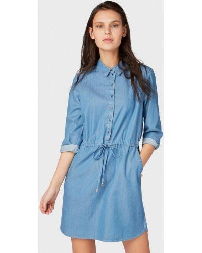 Джинсовое платье весеннее синее Tom Tailor Denim