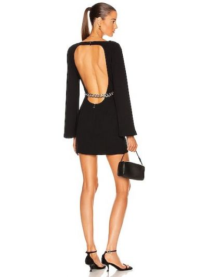 Czarna sukienka srebrna Atoir