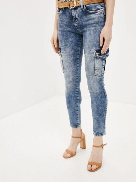 Зауженные джинсы - синие D'she