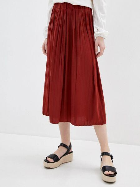 Плиссированная юбка красный весенняя Ovs