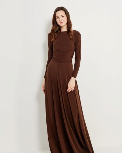 Коричневое платье осеннее Zerkala
